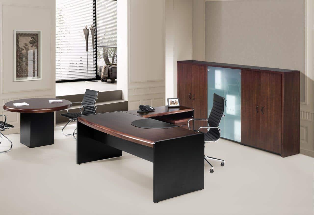 CALA despacho medera natural combinado con negro
