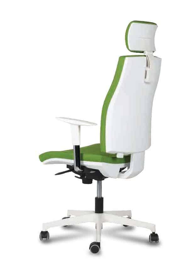 ZOE. sillon ergonomico respaldo malla con cabecero