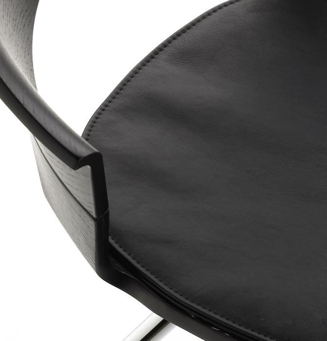 Silla de oficina con cojín de piel de Guialmi