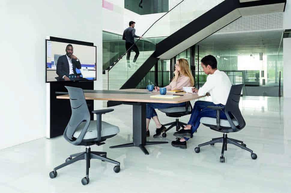 Mesa para videoconferencia power de actiu