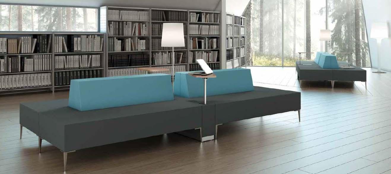 Salas de espera, recepción, sofas modulares
