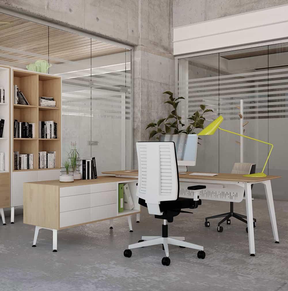 Mesas de despacho origami para oficinas con estilo - Mesas de despacho ...
