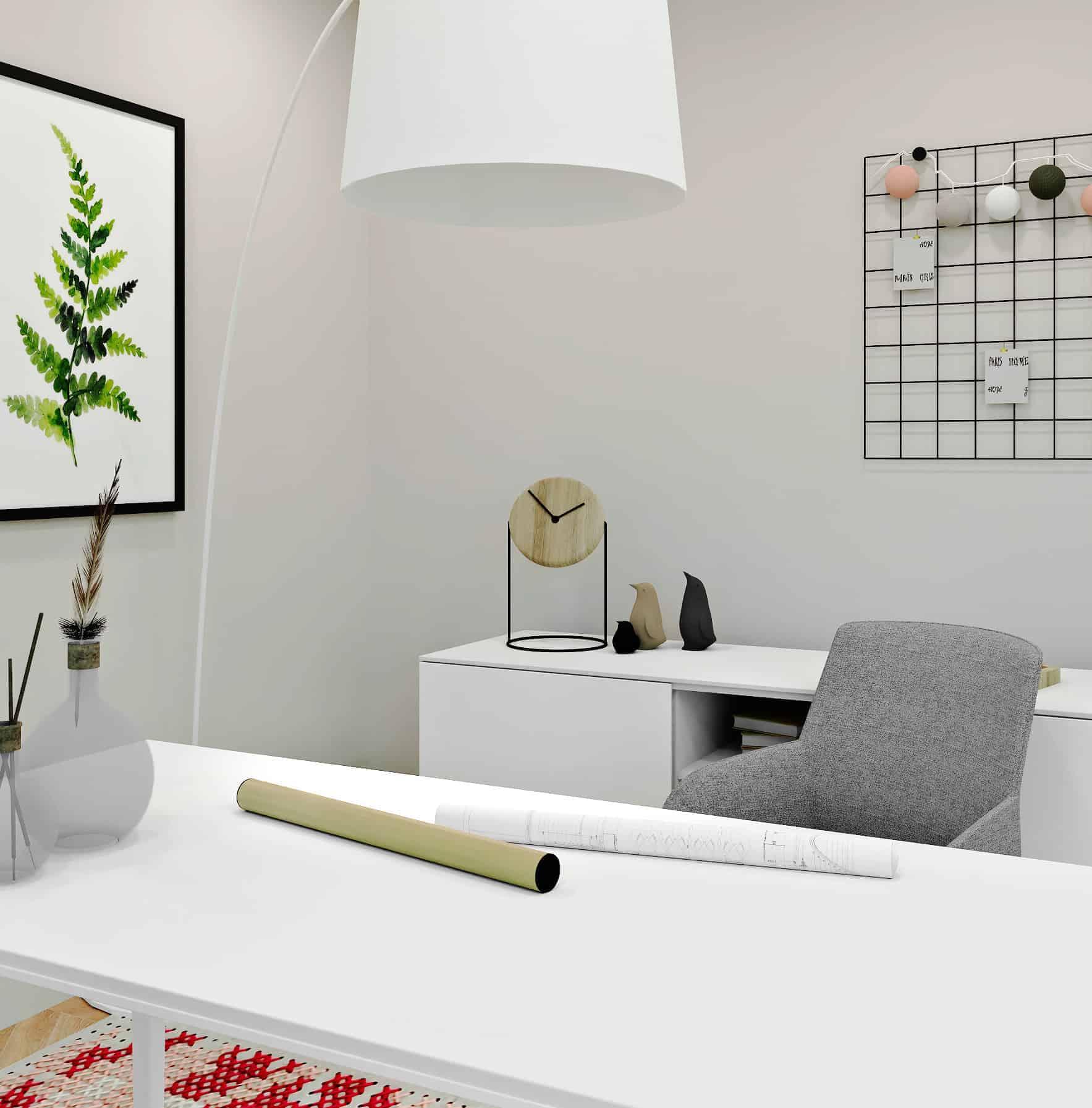 Homeoffice estilo minimalista